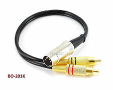 1ft Bang & Olufsen 5-Pin DIN to 2-RCA Black Audio Cable, CablesOnline BO-201K