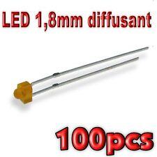 357/100# LED 1,8mm orange diffusant 100pcs