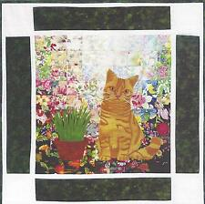 Tigger British Shorthair cat watercolor quilt kit Whims