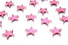 50pc Star 12mm Pink Rivet Spike Spacers 1-3 Day Shipping