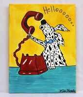 "ORIGINAL PAINTING CUTE  ""HELLO DOGGIE""  BY ARIZONA SIOUX ARTIST KILLS THUNDER"