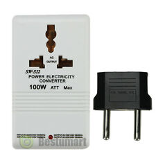 110V to 220V STEP Up/Down VOLTAGE CONVERTER 100W Watt TRANSFORMER TRAVEL
