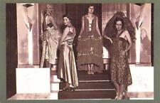 Postcard Nostalgia LONDON Silk Exhibition Fashion Olympia 1929 Reproduction Card