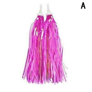 Kids Bicycle Riband Ribbon Scooter Streamers Sparkle Tassel Decor S4J9 New