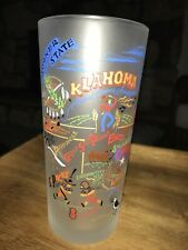 New listing vtg 2004 Catstudio oklahoma drinking tourist frosted glass cup 6.25� 15 oz