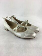 Loafer Size 5 M Stuart Weitzman Womens Tazia Sand Leopard Denim Peep Toe Ballet Flats