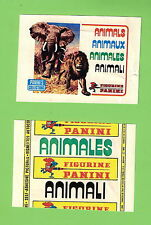 #D178. 1980 PANINI ANIMALS STICKERS WAX WRAPPER