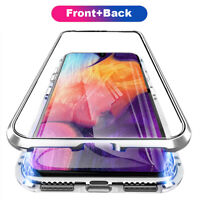 Metal Front+Back Tempered Glass Case Phone Cover For Samsung Galaxy S10 Note 10+