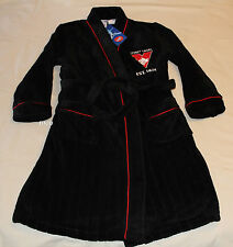 Sydney Swans AFL Boys EST Black Embroidered Fleece Dressing Gown Size 12 New