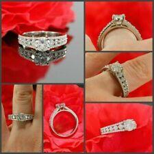 Ring 925 Sterling Silver Ring 1.85Ct Round Moissanite Diamond Wedding Engagement