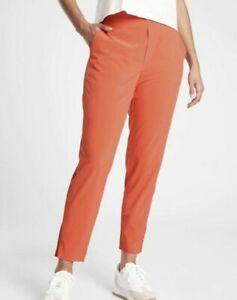 ATHLETA Brooklyn Ankle Lightweight Travel Pant Orange OGHZ Women Size 4 NWT