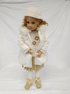 Vintage ? Götz Doll Girl in Coat 70cm Length Light Brown Hair Collectable in Box