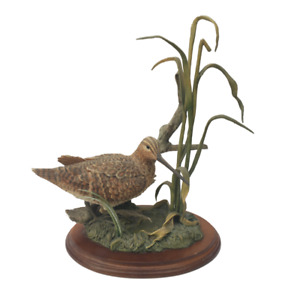 Country Artists Birds Snipe in Water with Reeds Hand Painted/Crafted