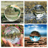 Sphere Glass Clear Crystal Ball Photography Lens Photo Prop Background 60mm/80mm