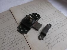 French antique hardware  iron latch lock with receiver c.1900
