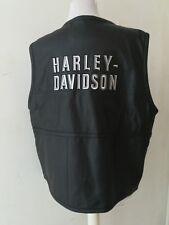 Harley Davidson gilet pelle Vintage nero uomo