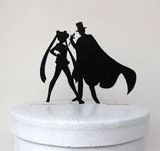 wedding cake topper  - Sailor Moon & Tuxedo Mask, Anime,