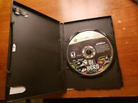 DJ Hero Microsoft Xbox 360 Game Disc only with black case