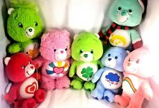 Lot of 7 Mini Small Care Bears Bear Stuffed Beanie Plush Good Luck Best Friend
