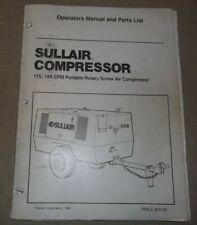Sullair 175 185 Cfm Air Compressor Parts Amp Operation Maintenance Manual