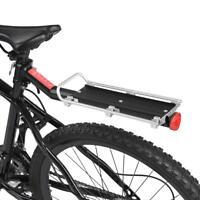 Bicycle Mountain Bike Rear Rack Seat Post Mount Pannier Luggage Carrier Metallic