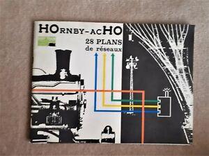 CATALOGUE PLANS DE 28 RESEAUX  HORNBY HO TRAIN ELECTRIQUE