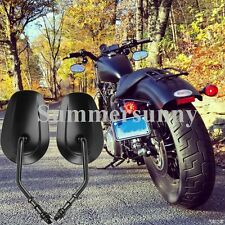SUPERB BLACK REARVIEW CUSTOM MIRRORS FOR HARLEY DYNA SPORTSTER 883 1200 IRON US