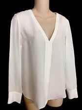 ALC  White Silk Blouse Long Sleeve Size 0 NWT $375