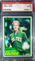 1981 Topps #4. Larry Bird. PSA 9 (POP 977) HOC85🔥