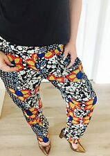 NOUGHTS & CROSSES FLORAL PRINT  QUALITY PANTS WORK PARTY SZ 12