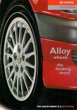 Toyota Alloy Wheels 1997-98 UK Brochure Starlet Corolla Avensis Celica RAV4