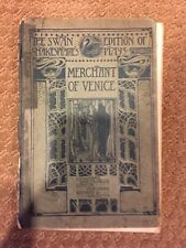 The Swan Edition of Shakespeare's Plays-Merchant of Venice-1912 Vintage