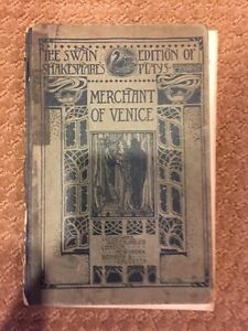 Shakespeare's Plays The Swan Edition of -Merchant of Venice-1912 Vintage