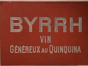 Publicité Ancienne Cartonnée sur le vin BYRRH