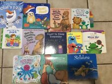 Lot of 10 Childrens BOARD Hardcover BABY TODDLER DAYCARE Kids BOOKS Random Mix