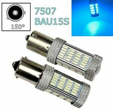 2pcs Ice Blue Rear Turn Signal Light BAU15S 7507 PY21W 92 LED Bulb Lamp A1 LAX