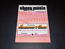 Sheet Music Magazine Archive Issue April 1978 Burt Bacharach & Hal David RARE!