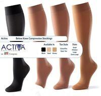 Activa Below Knee Support Stockings Varicose Vein Circulation Compression Sock