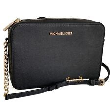 Michael Kors Jet Set Item Crossbody Bag Saffiano Leather Black