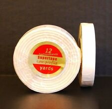 """SuperTape Low Profile 1/2"""" x 12' Lace Wig Weft Hair Extensions Double Sided Tape"""