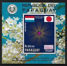 STAMPS-PARAGUAY. 1970. Winter Olympics-Osaka Miniature Sheet. Mi: BL 148. MNH