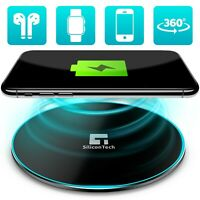 Qi Wireless Charger Fast Charging Pad For iPhone SE 12 11 Pro Max XR XS 8 Plus