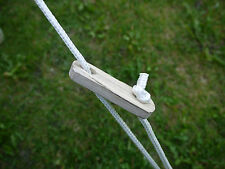 Ash Wood Tent Sliders / Guy Rope Runners/ Tensioners x 14 by Bell Tent Boutique