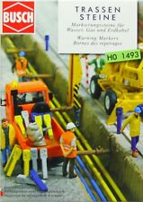 BUSCH HO scale ~ WARNING MARKERS ~ 1/87 plastic kitset #1493