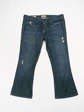 39bcacb2f10 William Rast Designer BELLE flare Dark Distressed Indigo Wash Blue Jeans  Size-30