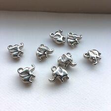 10X Baby Elephant Charms Silver DIY Jewellery Making Pendant 14 x 13mm