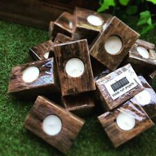Recycled Timber Tea Light Wedding Gift Carols By Candlelight Candle Holder