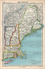 1952 MAP ~ UNITED STATES ~ NEW ENGLAND MAINE NEW HAMPSHIRE VERMONT
