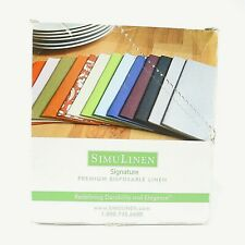 SimuLinen Disposable Dinner Napkins - Cloth Like, Soft, Absorbent - Gray (50 Pac