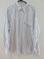 Carrera Mens Shirt Size M Long Sleeve Button Up Regular Fit White Strip Vintage